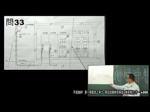 平成29年度第一種電気工事士 筆記試験解答解説【後編:問30~問50】