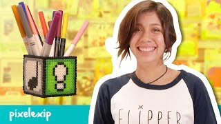 Pixelexip 02 :: Crea esta práctica lapicera con tus Hama Beads sin usar pegamento