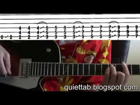 guitar lessons online Smashing Pumpkins Quiet tab