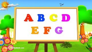 ABC Song | ABCD Alphabet Songs | ABC Songs for Children - 3D ABC Nursery Rhymes
