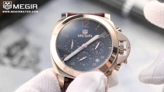 How to Use the Chronograph Function of Megir 3006 Model English Version