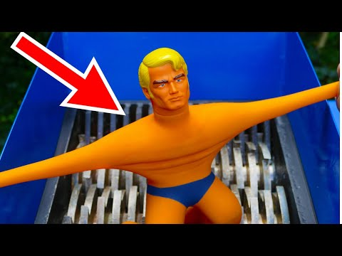 SHREDDING STRETCH ARMSTRONG TOY! AWESOME VIDEO!