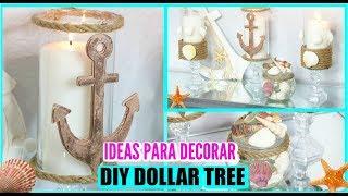 DIY DOLLAR TREE / BEACH DECOR I IDEAS PARA DECORAR I DECORACIONES VERANO 2019 I DECORACION