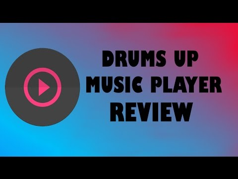 DrumsUP music player review|Best app for dark themed customization!