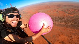 Exercise Ball Magnus Effect from 2000ft and Soccer Golf from 500ft!