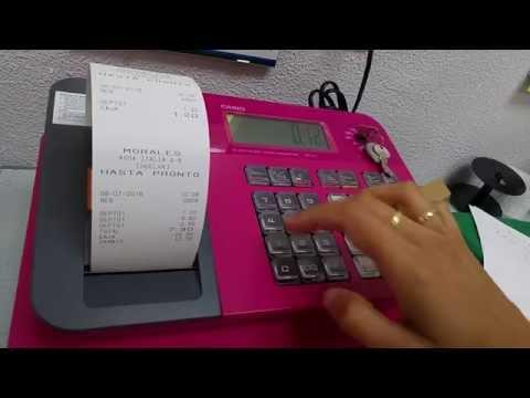 TUTORIAL - Como Programar Registradora Casio G1 - ESPAÑOL