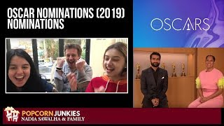 Oscar Nominations (2019) Announcement - Nadia Sawalha & The Popcorn Junkies Response & Reaction