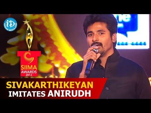 Sivakarthikeyan Imitates Anirudh Ravichander @ SIIMA 2014, Malaysia | Telugu