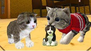 СИМУЛЯТОР Маленького КОТЕНКА #4 КОШКА родила котенка развлекательное видео для детей #КИД #ПУРУМЧАТА