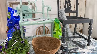 Mother's Day Flowers DIY Planter Chair
