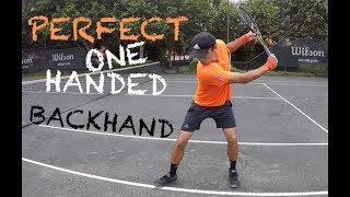 How To Hit Perfect One Handed Backhand (TENFITMEN, Episode 29)