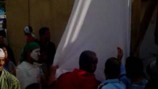 preview picture of video 'Oued-Fodda préparation du grand écran pour le matche Egypt-Agerie'