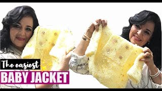 HOW TO KNIT THE EASIEST BABY JACKET - EASY AND FAST - BY LAURA CEPEDA