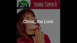 "Donna Summer - O Come All Ye Faithful LYRICS - Remastered ""Christmas Spirit"" 1994/2005"