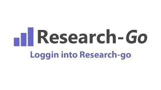 Logging into Research-Go