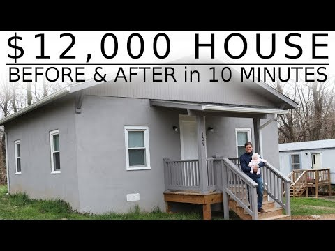 $12,000 HOUSE - The Full Renovation in 10 MINUTES!