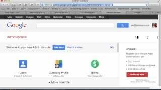 How to Login to the google Apps Admin Interface