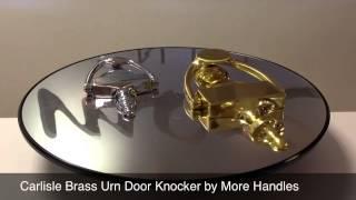 DOOR KNOCKER - VICTORIAN URN CARLISLE BRASS M38 BY MORE HANDLES