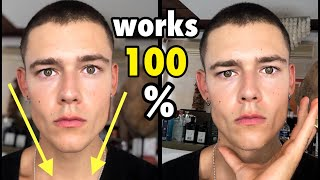 How to GET a SLIM and CHISELED FACE FAST! No Face Fat, No Bullshit Facial Exercises!