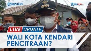 Launching Bansos PPKM Mikro Kendari, Wali Kota Kendari Blusukan Bagikan Bantuan Beras ke Rumah Warga