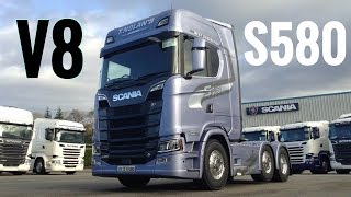 2017 New SCANIA S580 V8 Truck - Full Tour & Test Drive - Stavros969 4K