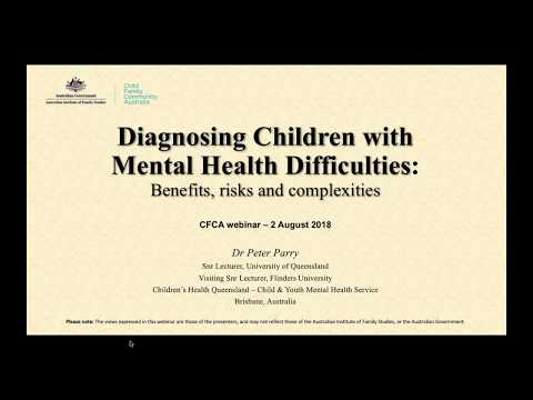 CFCA Webinar – Diagnosing children with mental health difficulties: Benefits, risks and complexities