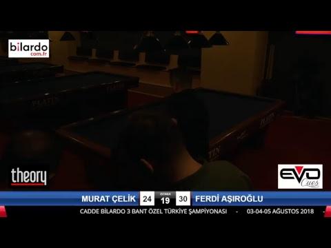 MURAT ÇELİK & FERDİ AŞIROĞLU Bilardo Maçı - CADDE BİLARDO 3 BANT ÖZEL TÜRKİYE ŞAMPİYONASI-3. Tur