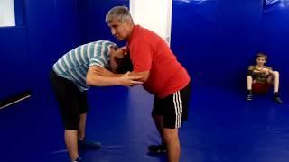 Вольная борьба броски со стойки с захватом руки и головы(косой)