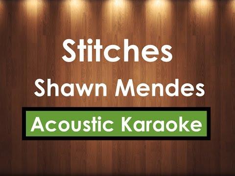 Stitches - Shawn Mendes | Karaoke Lyrics (Acoustic Guitar Karaoke) Instrumental