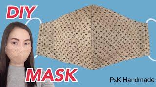 Diy Make A Face Mask Sewing Tutorial Free Pattern | หน้ากากอนามัยมีช่องใส่ลวด มีช่องใส่แผ่นกรอง