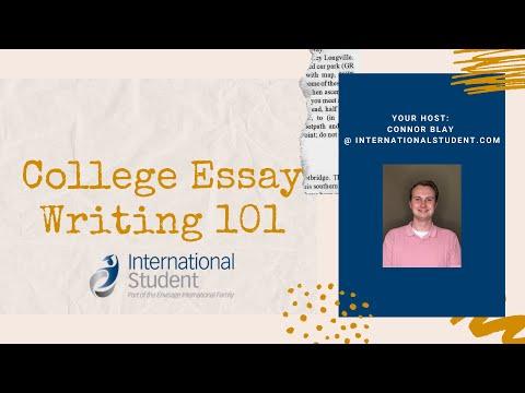 College Essay Writing 101
