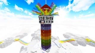 100 vs 2 RAINBOW TOWER OF DEATH - FAN BATTLE! with PrestonPlayz & MrWoofless