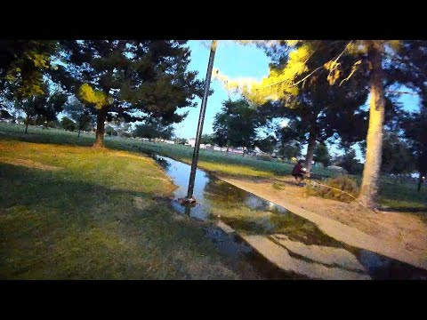 Geprc Cinerun HD3 DJI Air Unit - FPV After Dusk Local Park With OSD...... FINALLY!!!