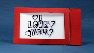 Happy Valentines Day DIY Magic Greeting Card - Changes Color