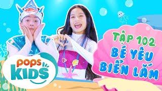 Mầm Chồi Lá Tập 102 - Bé Yêu Biển Lắm   Nhạc thiếu nhi hay cho bé   Vietnamese Kids Song