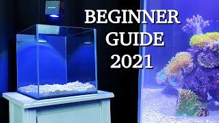"No money, no problem - REEF TANK BASICS - ""how to start a saltwater aquarium"" BEGINNER GUIDE 2021"