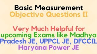 Electrical and Electronics Measurement MCQ problems