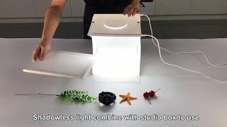 Лайткуб (фотобокс) Puluz с двойной LED подсветкой+ LED платформой 24*23*22 см