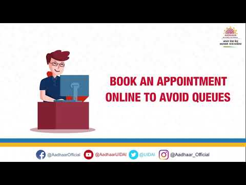 Book Online Appointment for Aadhaar Services