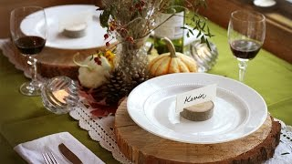 How To Decorate A Fall Table