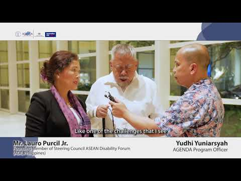 Image of the video: AGENDA Interview with Filipino Disability Rights Advocate