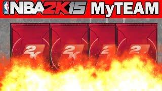 NBA 2K15 My Team Pack Opening - HE'S ON FIYAAHHH! | NBA 2K15 Dimer Packs Opening