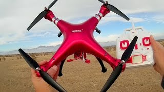 Syma X8HG Large Altitude Hold Camera Drone Flight Test Review