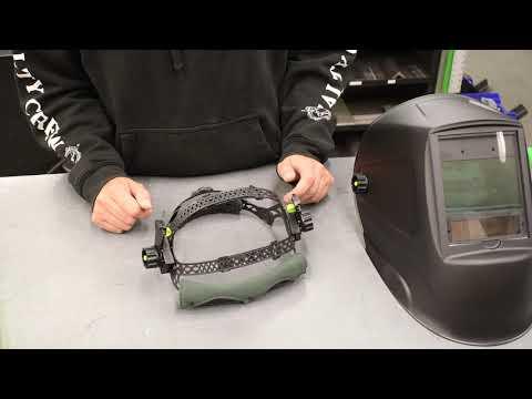 Forney® PRO Auto-Darkeing Welding Helmet Headgear Overview