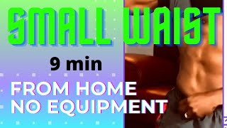 Small Waist Workout from Home No Equipment