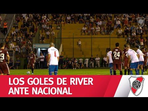 EXCLUSIVO | Los goles de River a Nacional, desde el campo de juego