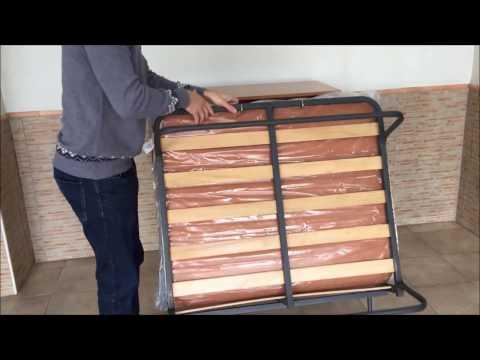 Mueble cama plegable con ruedas