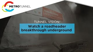 Town Hall Station cavern breakthrough