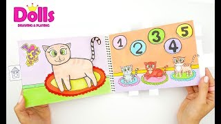 DOLLHOUSE FOR MOMMY CAT & KITTENS QUIET BOOK PAPERCRAFT TOYS FOR KIDS