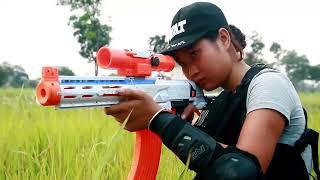 Superhero action S.W.A.T Police Girl Nerf guns Warrior Super Girl Rescue Hostages Nerf war